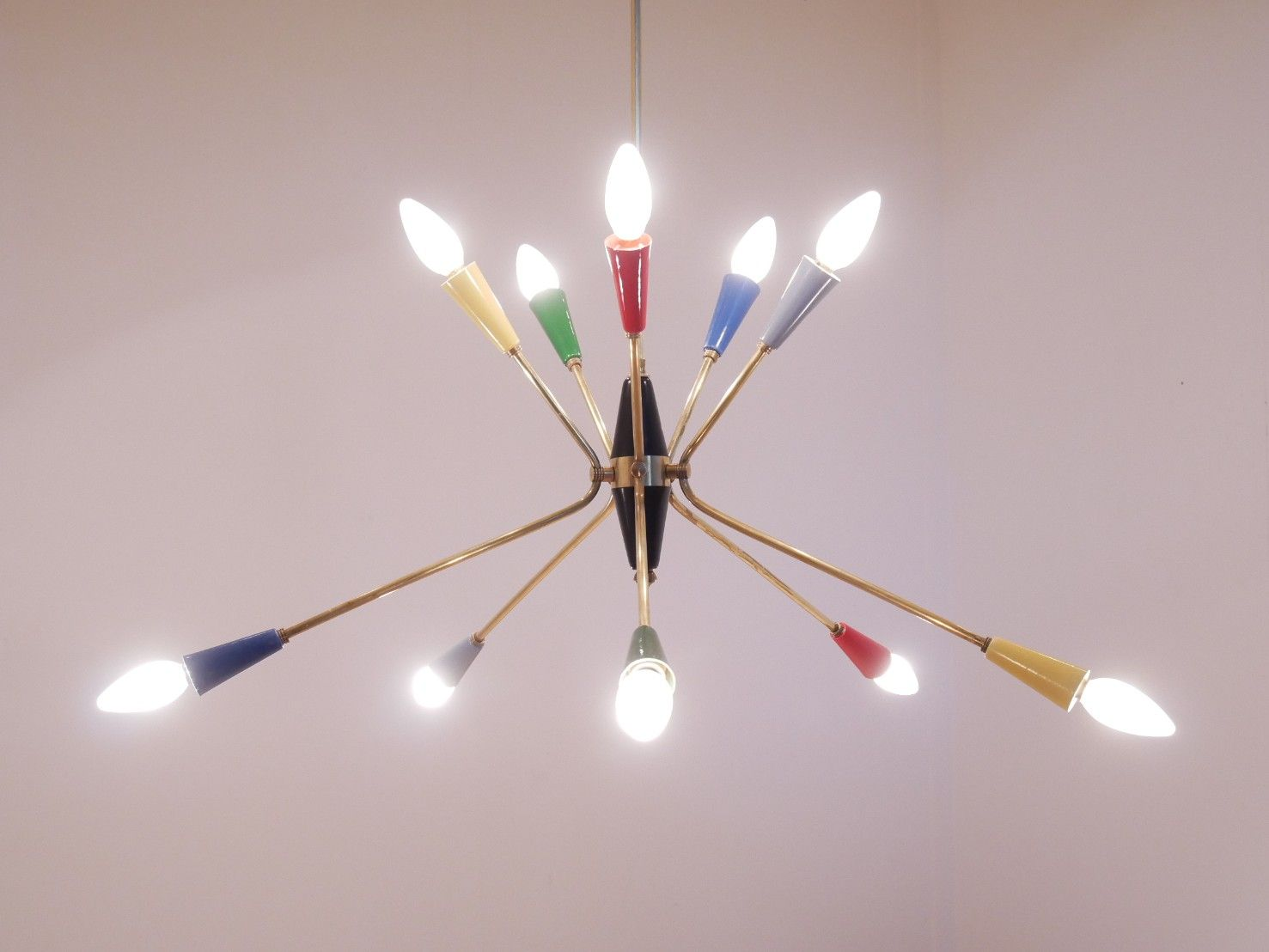 The best 100 colored chandelier image collections k5k price per piece italian multi colored sputnik chandelier 1950s for sale at pamono arubaitofo Image collections