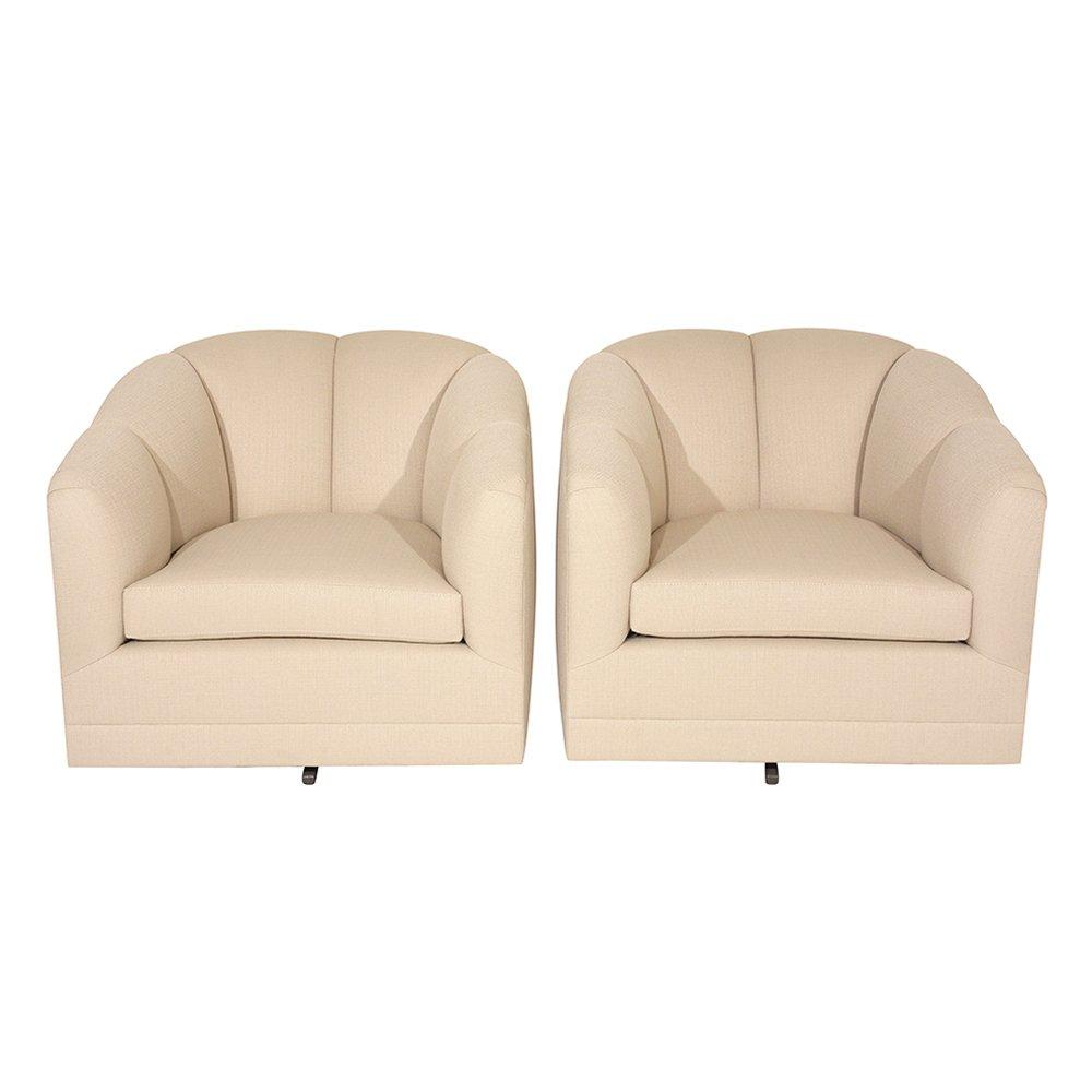 Mid Century Swivel Chairs, 1960s, Set Of 2