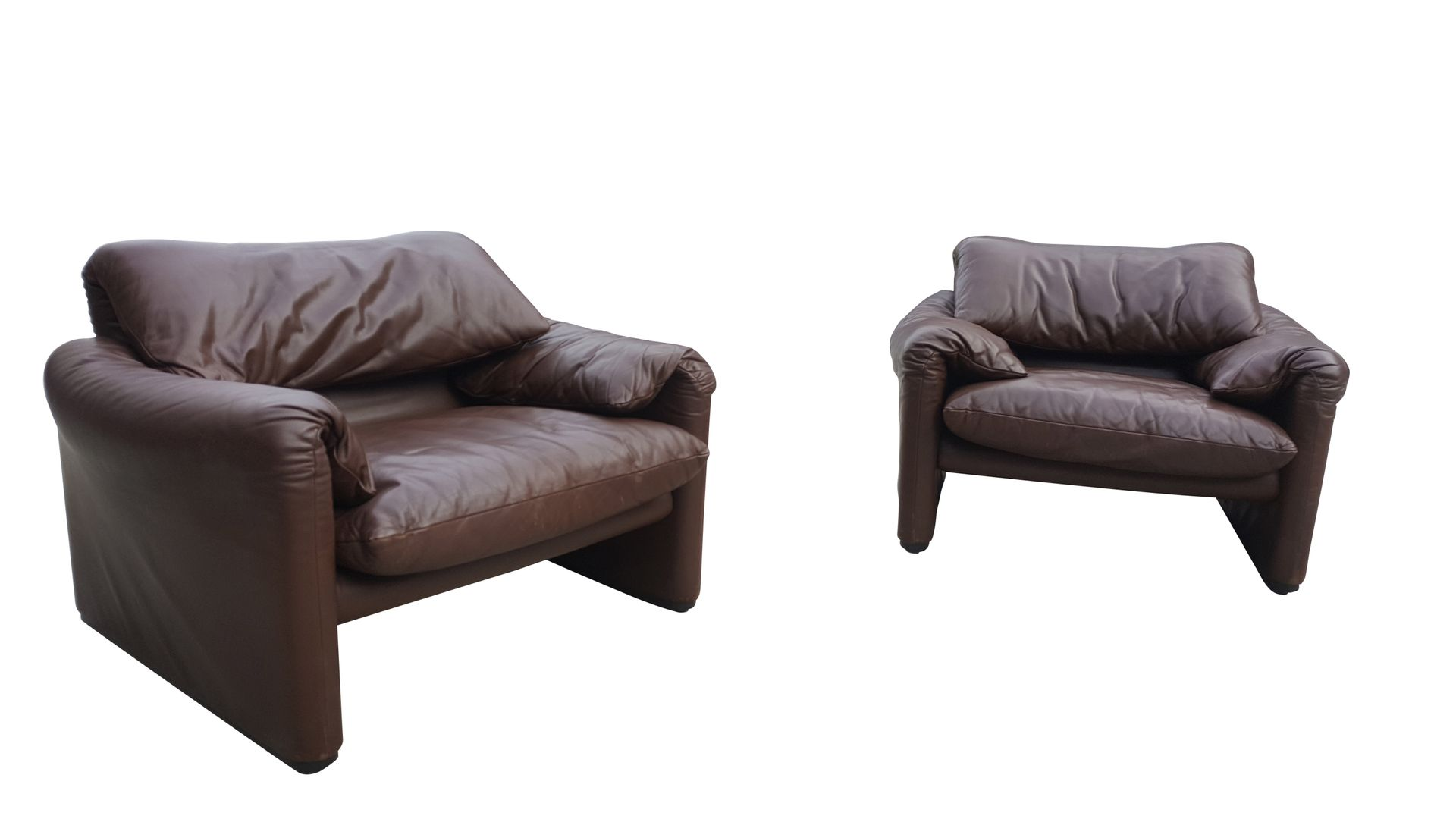 Chocolate Brown Living Room Set By Vico Magistretti For Cassina 1980s Bei Pamono Kaufen