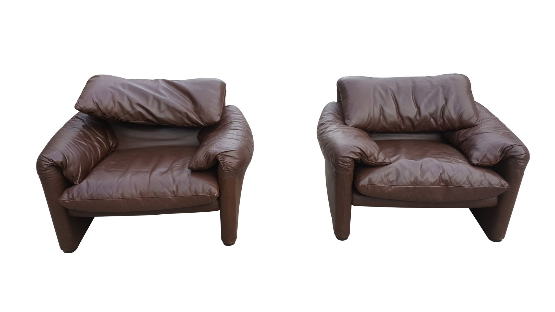 Chocolate Brown Living Room Set by Vico Magistretti for Cassina ...