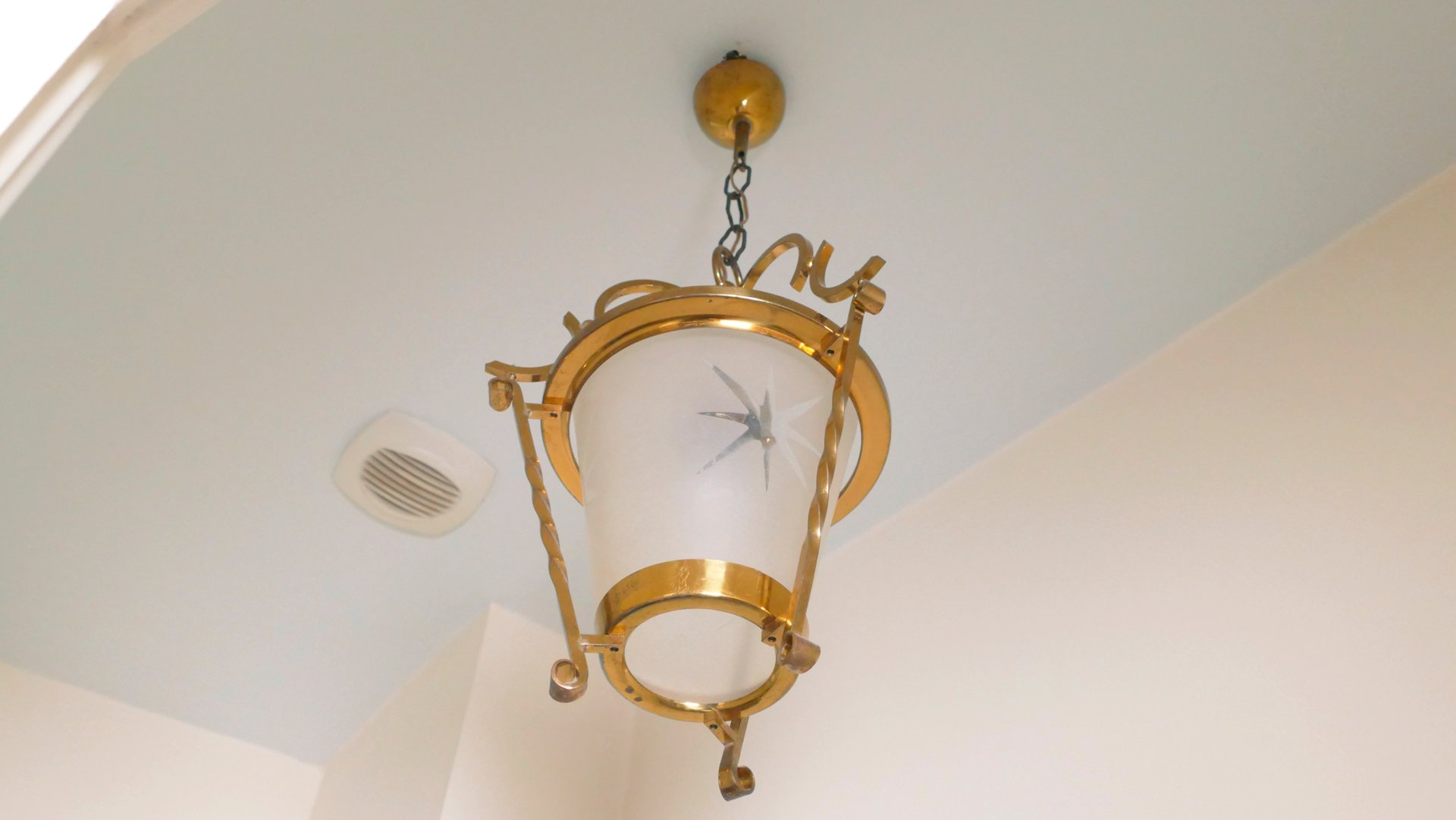 Art deco french brass ceiling lamp 1940s for sale at pamono art deco french brass ceiling lamp 1940s mozeypictures Choice Image