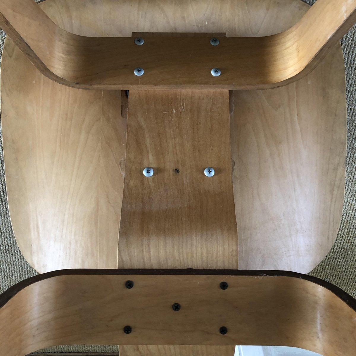 lcw birke furnier stuhl von charles ray eames 1950er. Black Bedroom Furniture Sets. Home Design Ideas