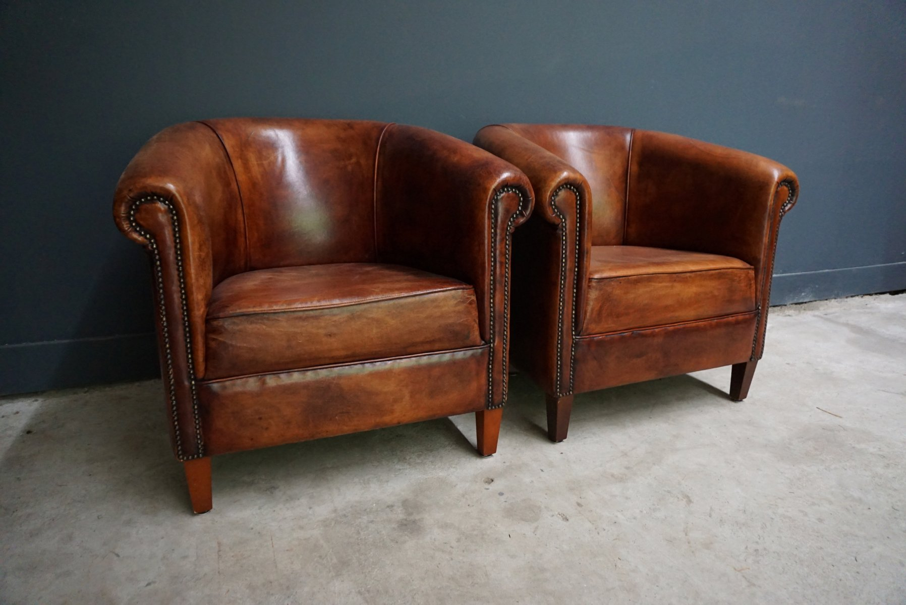 vintage leather club chairs vintage cognac leather club chairs set of 2 for 6840