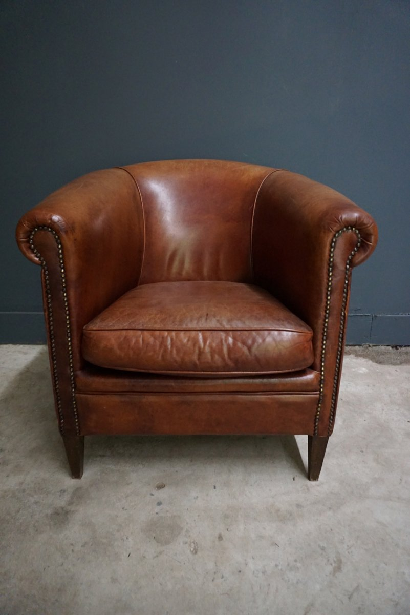 gray leather grain trim top chair nailhead with club