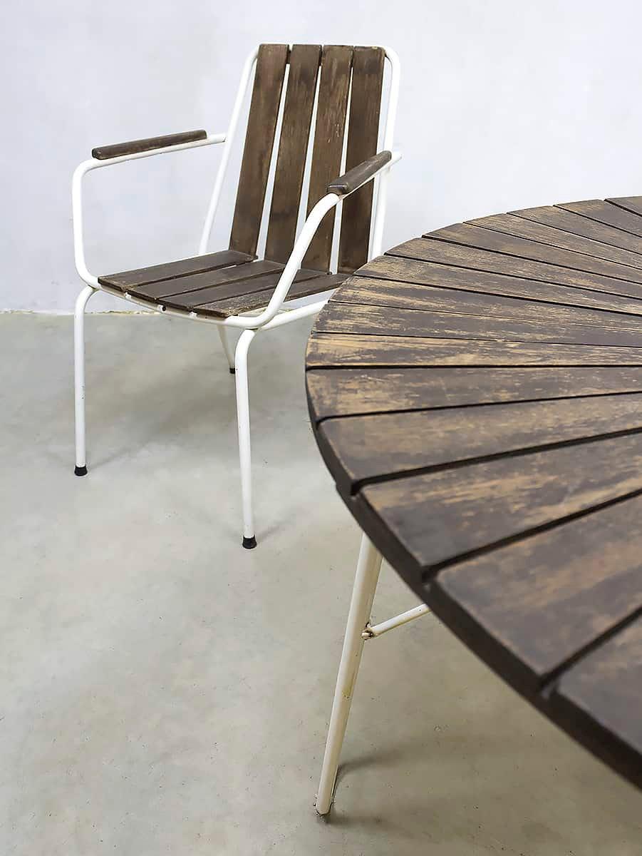 franz sischer vintage gartentisch und st hle bei pamono kaufen. Black Bedroom Furniture Sets. Home Design Ideas