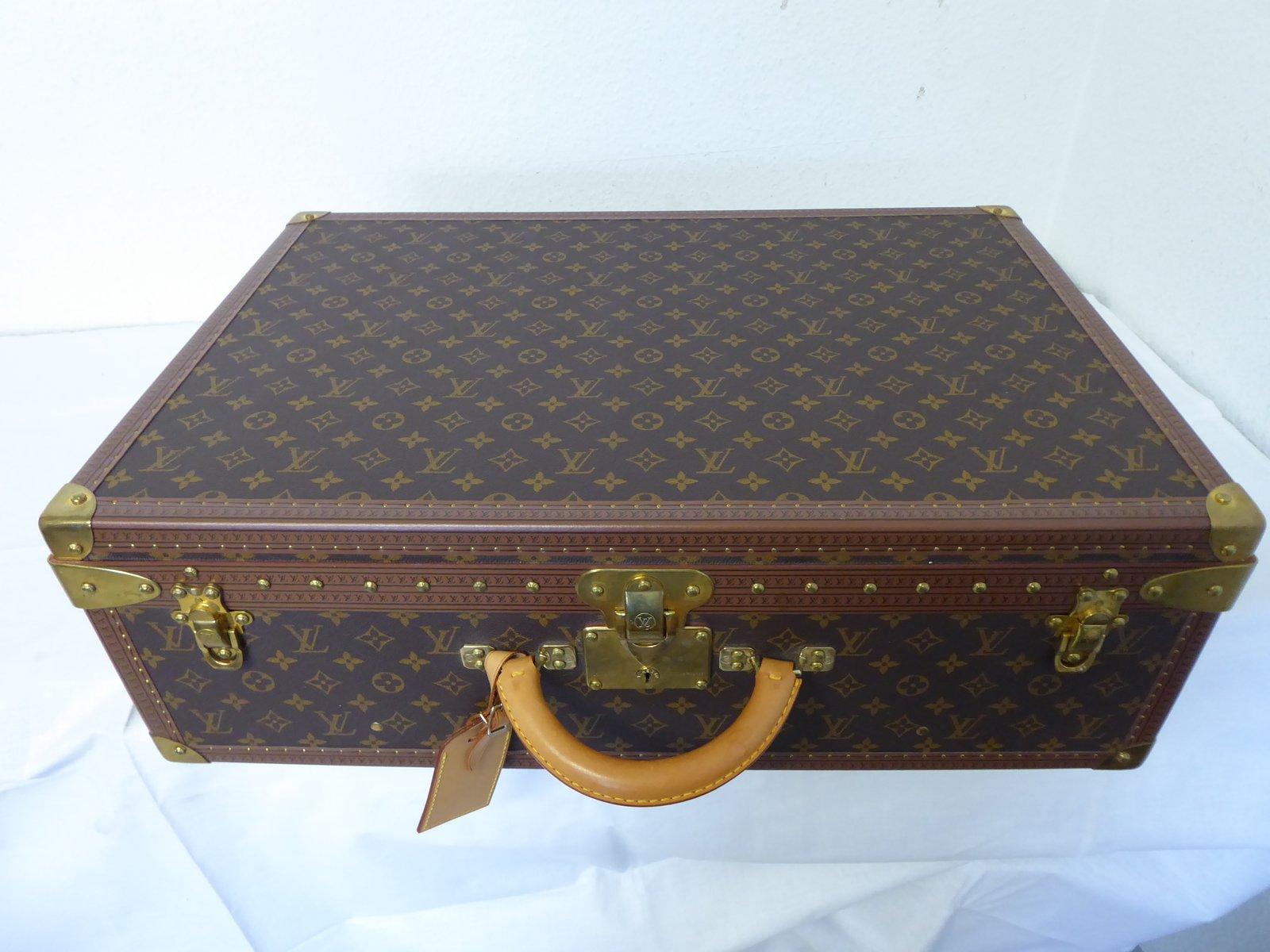 417b1d5b8e65 Valise Alzer 65 Vintage en Toile Monogrammée de Louis Vuitton marron beige ,ou
