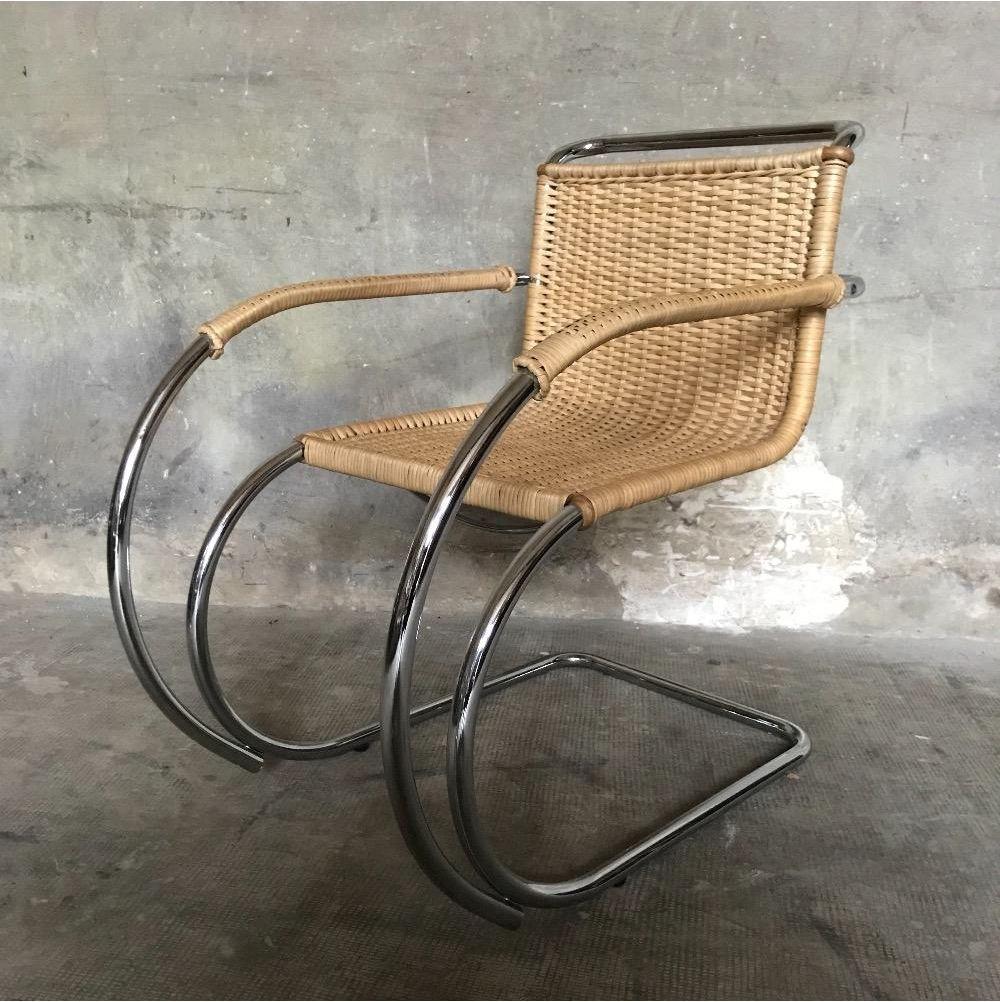 vintage mr20 st hle von mies van der rohe 4er set bei pamono kaufen. Black Bedroom Furniture Sets. Home Design Ideas