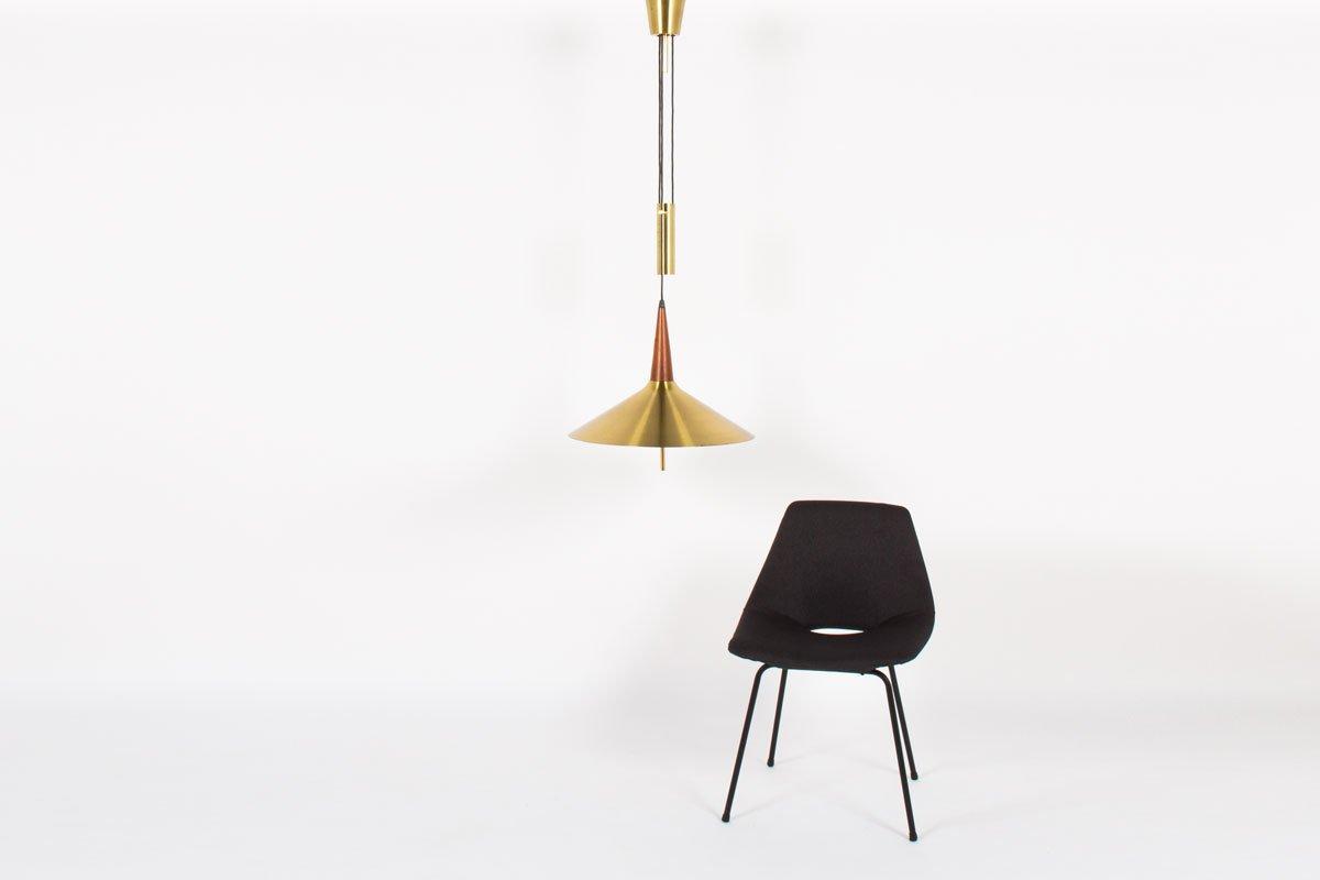 d nische messing gegengewicht h ngelampe 1950er bei. Black Bedroom Furniture Sets. Home Design Ideas