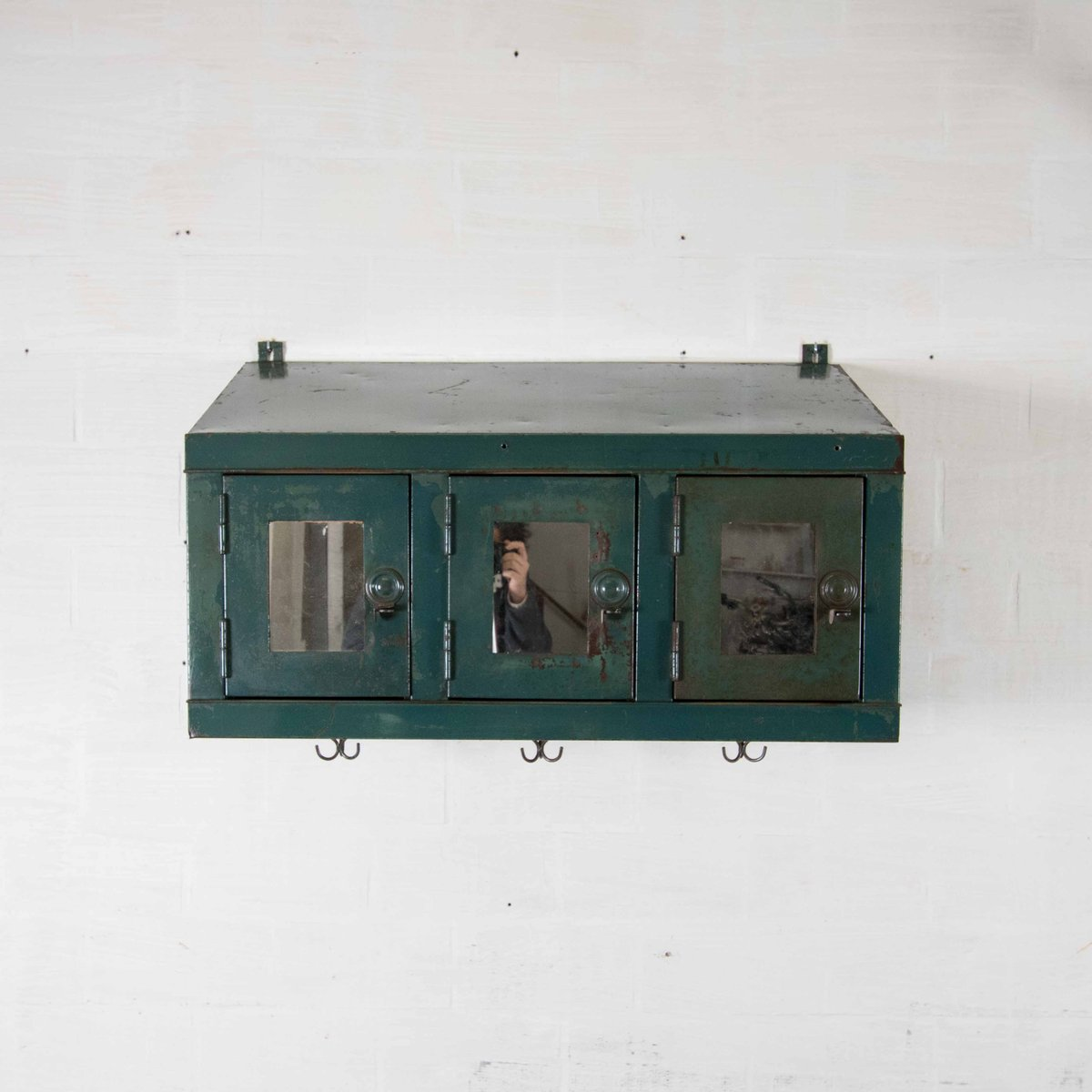 Great Vintage Industrial Wall Cabinet