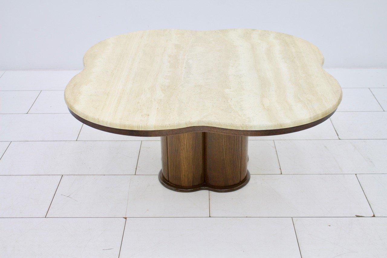 Table Basse Cloud Vintage en Travertin en vente sur Pamono
