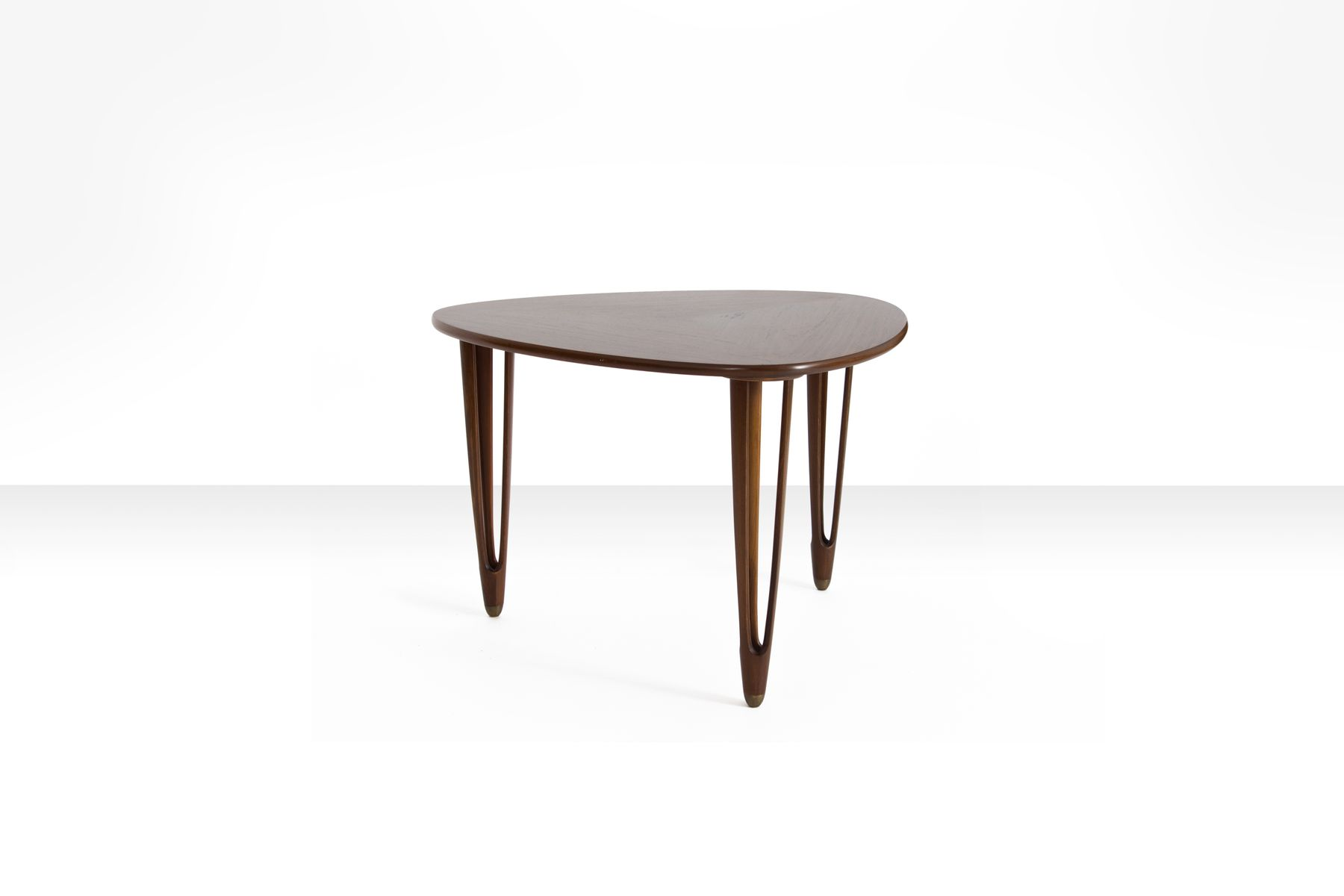 Rosewood Triangular Coffee Table from B C M¸bler 1950s for sale