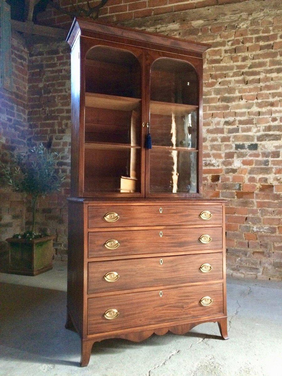 antike mahagoni vitrine bei pamono kaufen. Black Bedroom Furniture Sets. Home Design Ideas