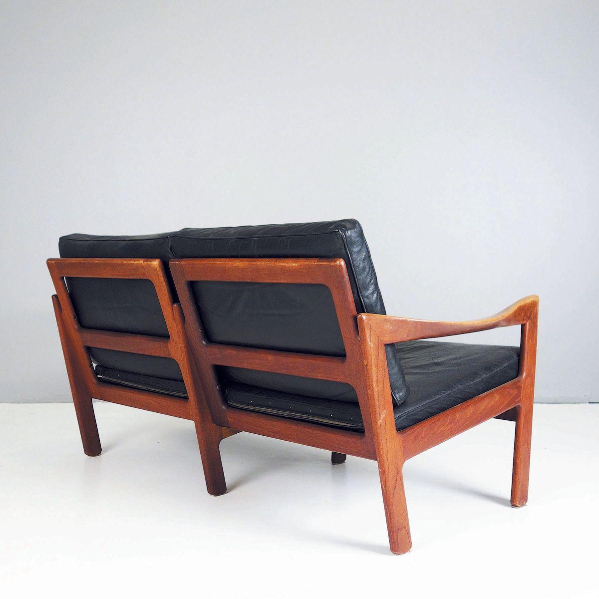 d nisches ledersofa von illum wikkels f r niels eilersen 1960er bei pamono kaufen. Black Bedroom Furniture Sets. Home Design Ideas