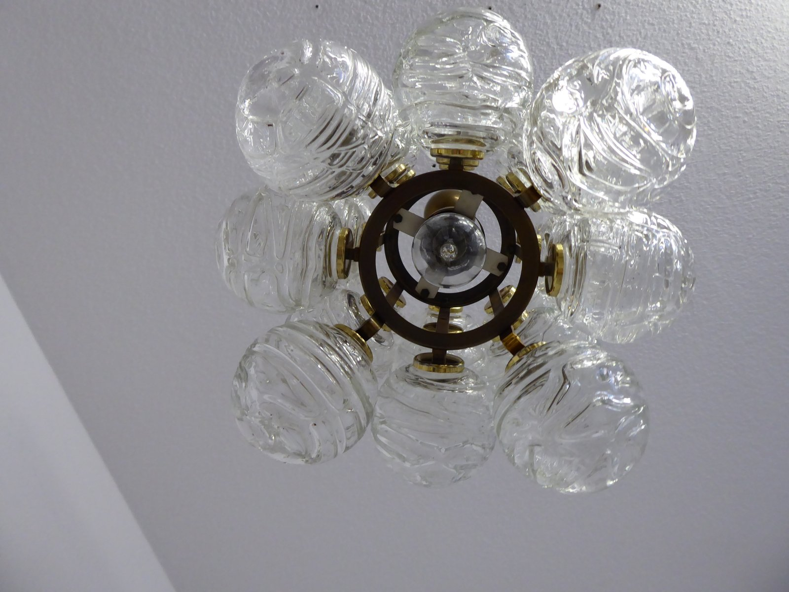 Mid Century Atomic Ceiling Light from Doria 1970s for sale at Pamono