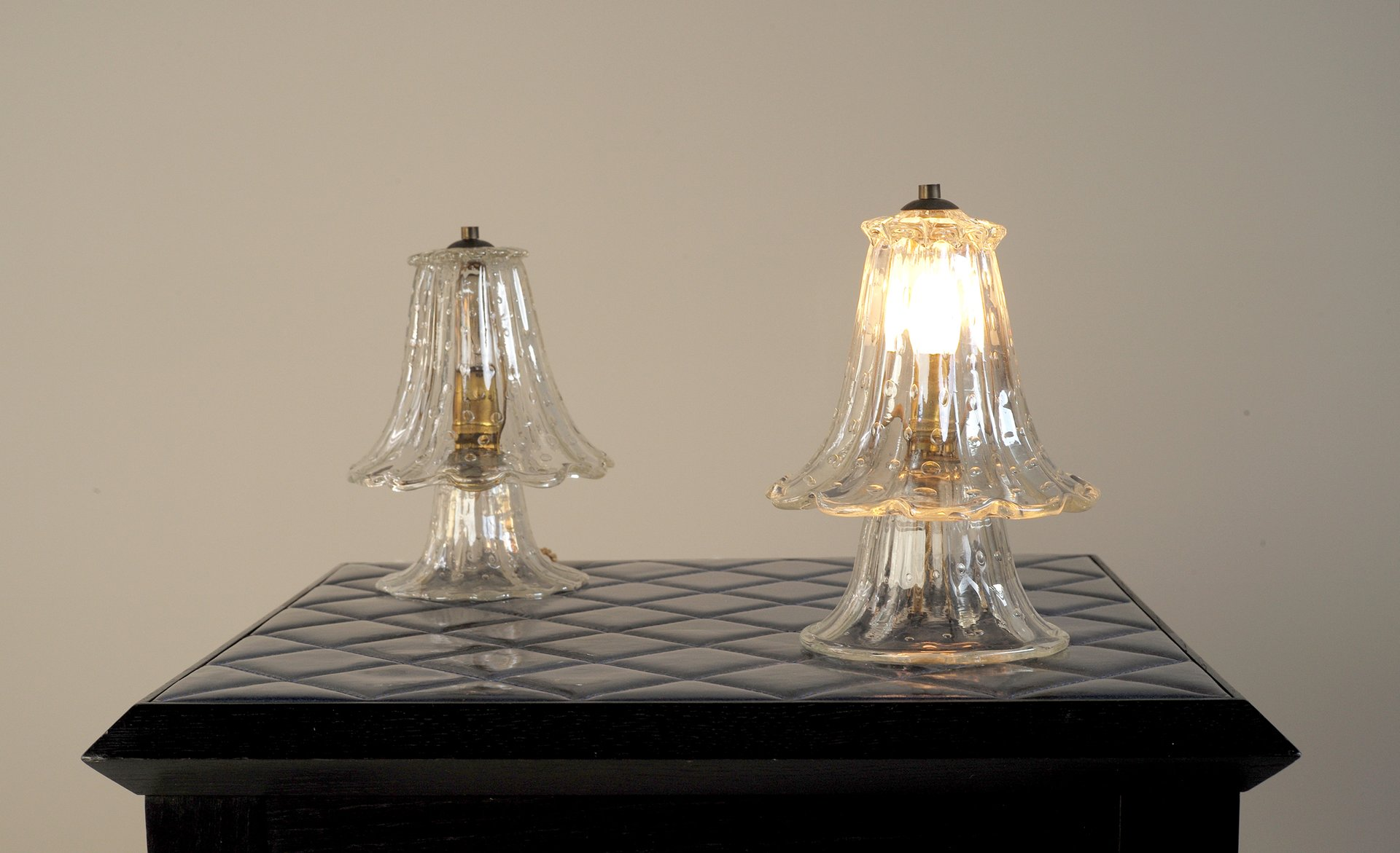 Vintage blown glass table lamps by ercole barovier for barovier vintage blown glass table lamps by ercole barovier for barovier toso 1950s set of 2 mozeypictures Gallery