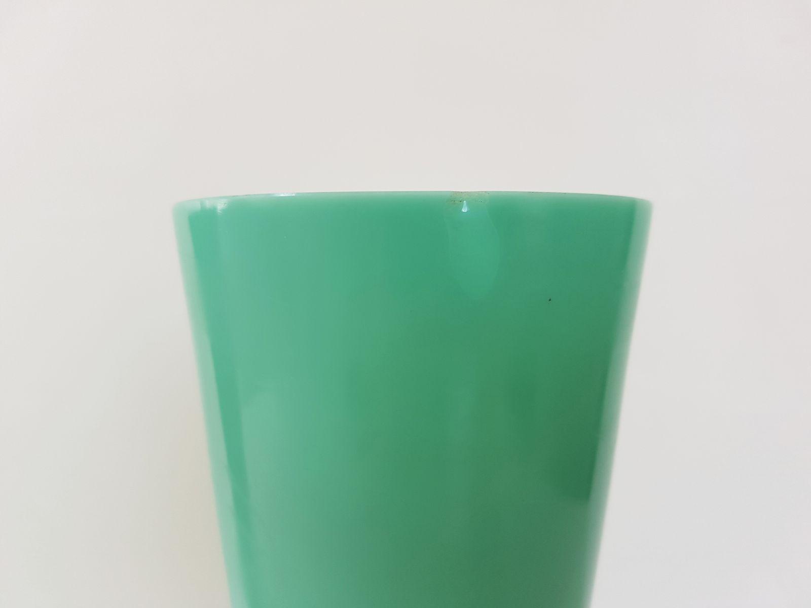 Art deco black green opaline glass vases 1920s set of 2 for price per set reviewsmspy