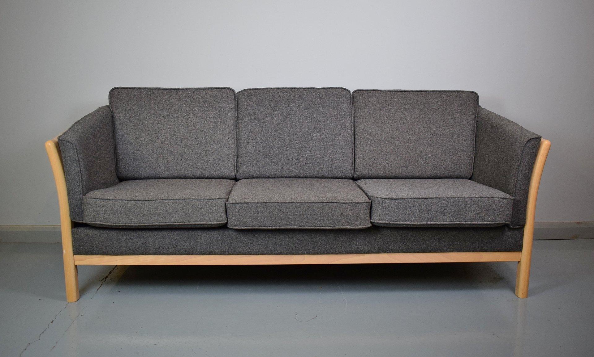 Vintage Danish Wool Sofa, 1970s