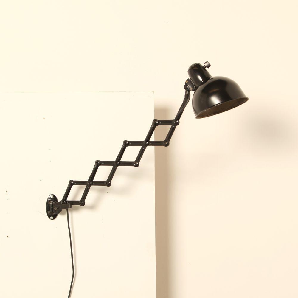 Bauhaus Scherenlampe Des Modells 6718 Von Christian Dell