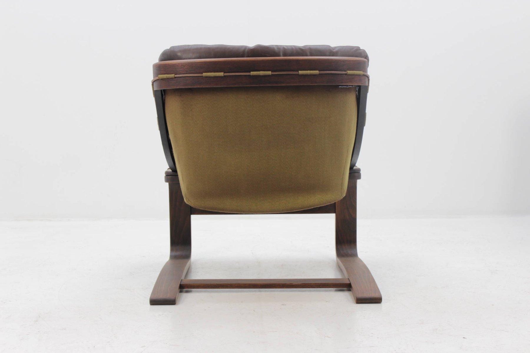 skandinavischer sessel aus bugholz und leder von ake. Black Bedroom Furniture Sets. Home Design Ideas