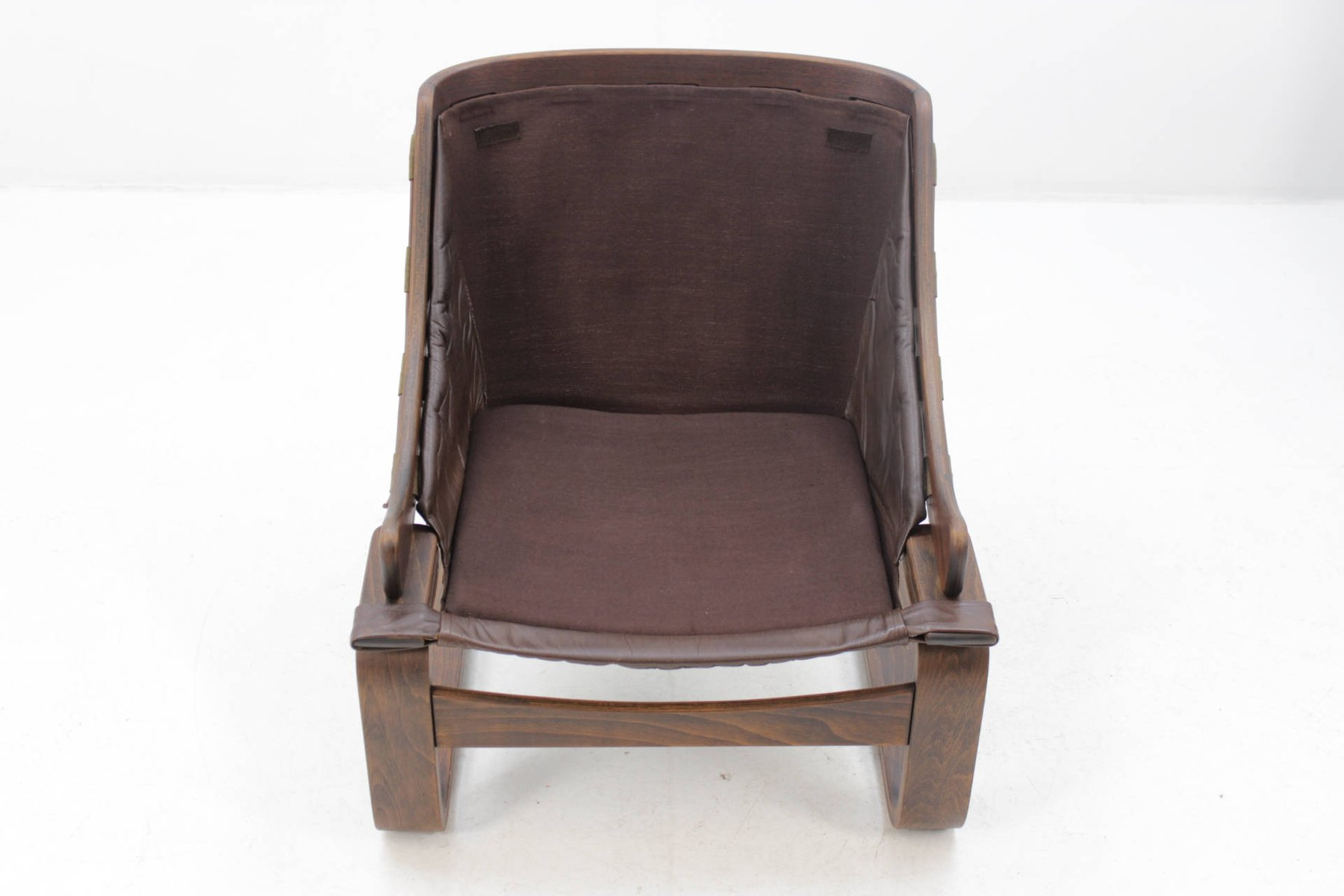 skandinavischer sessel aus bugholz und leder von ake fribytter f r nelo m bel 1970er bei pamono. Black Bedroom Furniture Sets. Home Design Ideas