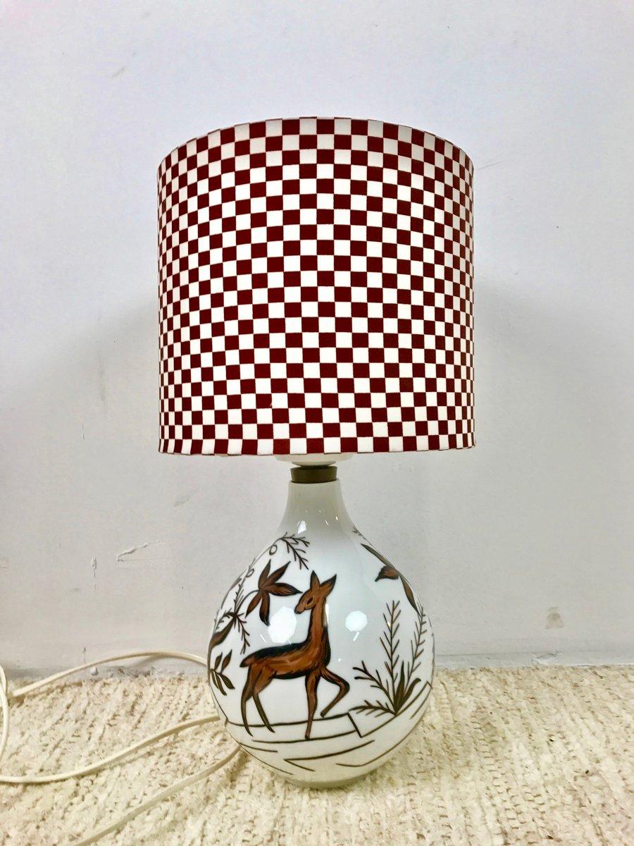 Vintage German Porcelain Lamp From Heinrich Selb