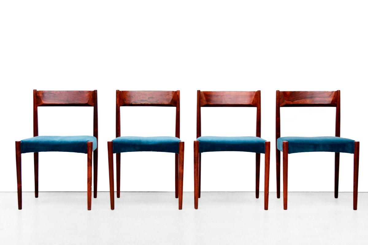 ausziehbarer palisander esstisch 6 st hle 1960er bei pamono kaufen. Black Bedroom Furniture Sets. Home Design Ideas