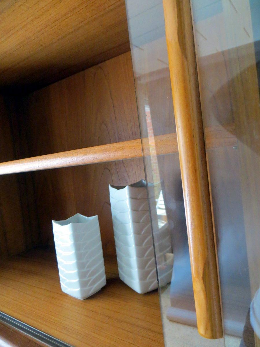 Mid century wandregal mit schiebet ren aus glas von dyrlund 1960er bei pamono kaufen - Wandregal aus glas ...