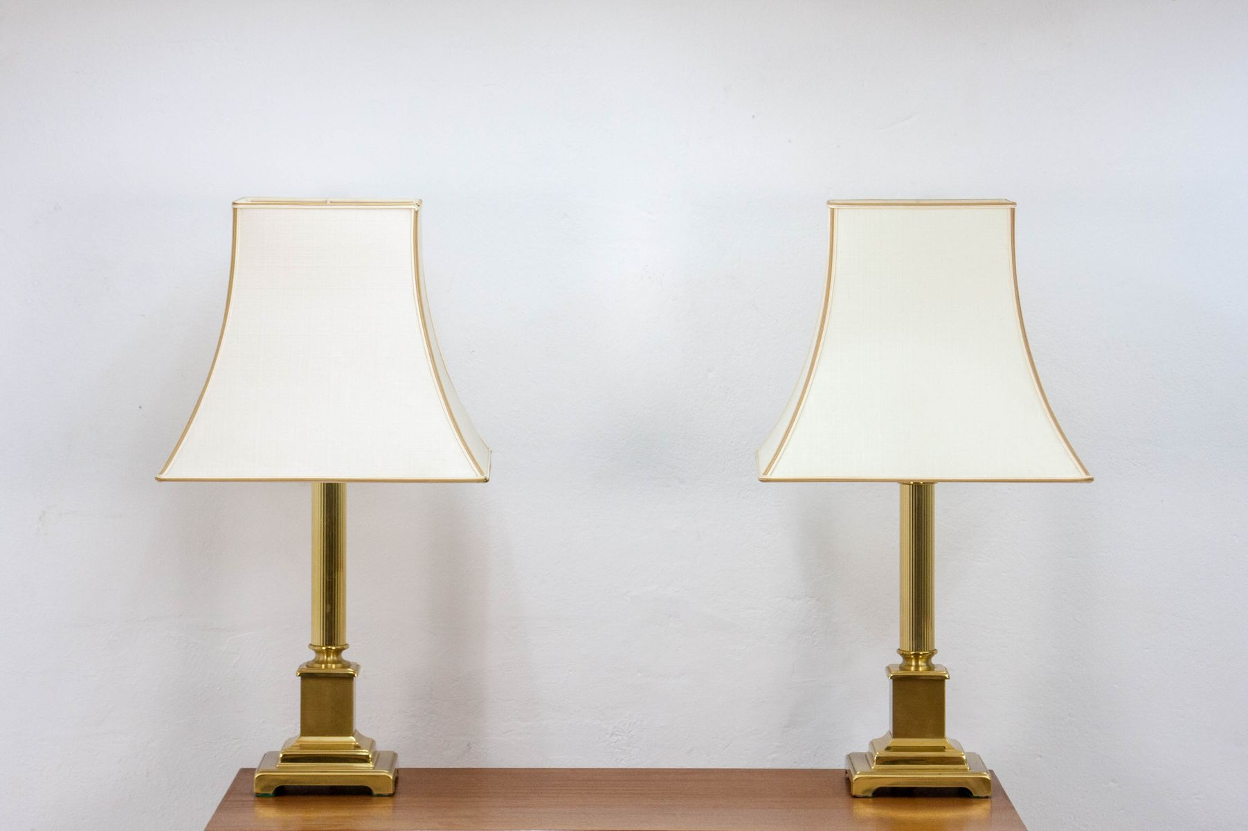 Hollywood Regency Style Brass Table Lamps From Herda, 1970s, Set Of 2
