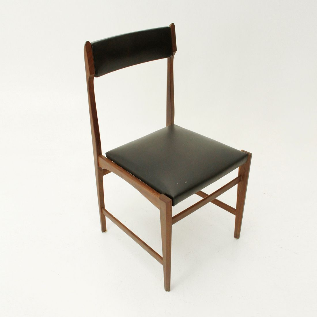 Black skai dining chairs 1960s set of 6 for sale at pamono for Black dining chairs for sale