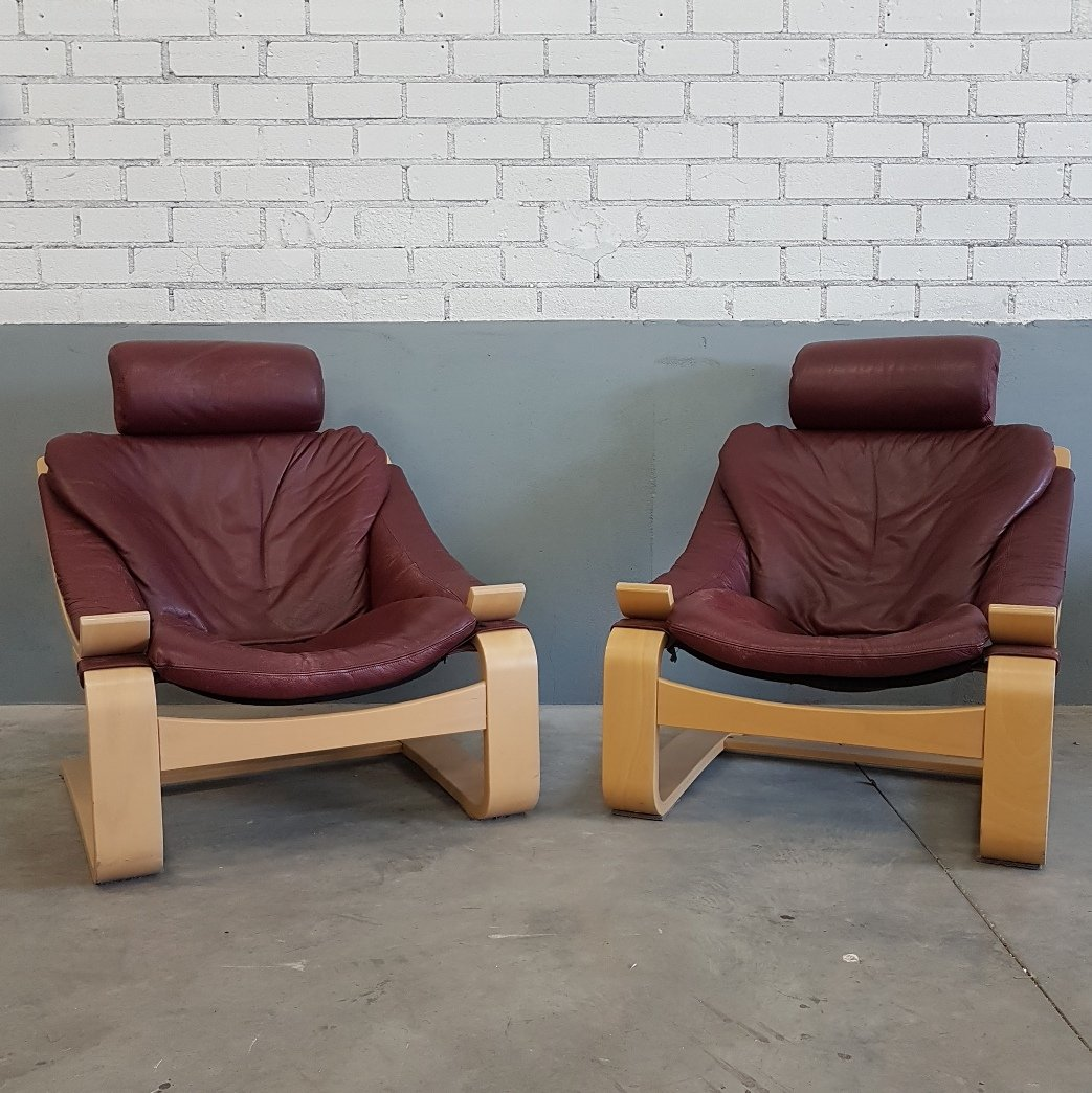 Kroken Chairs by Ake Fribytter for Nelo Möbel, 1970s, Set of 2