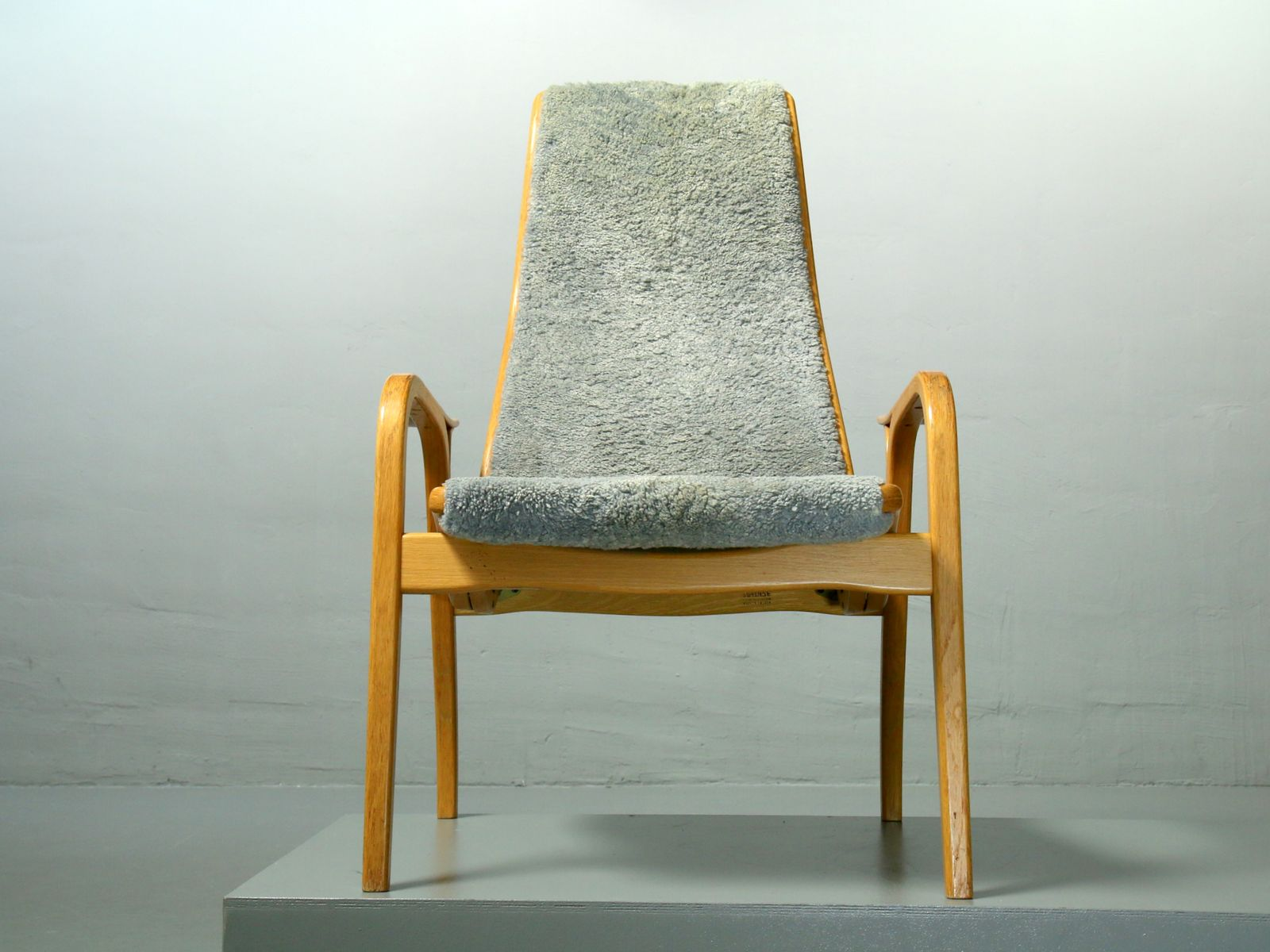 Vintage Lamino Sheepskin Lounge Chair by Yngve Ekström for Swedese, 1980s for sale at Pamono