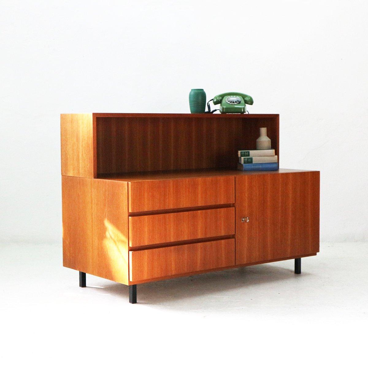 teak furnier sideboard mit schubladen und ablage von idee m bel 1960er bei pamono kaufen. Black Bedroom Furniture Sets. Home Design Ideas