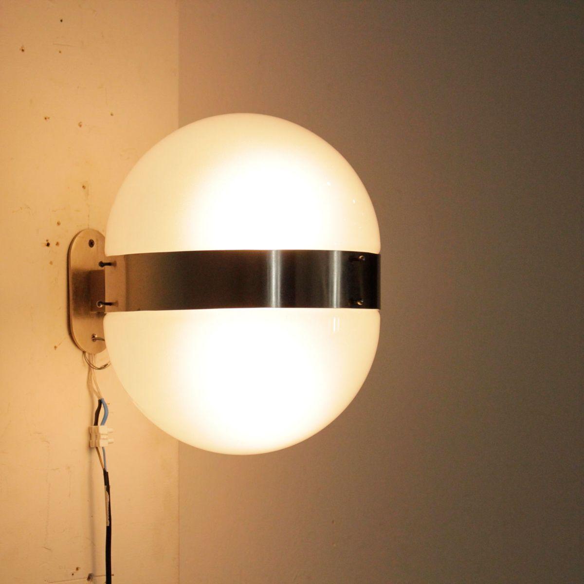wandlampe aus verchromtem metall von sergio mazza f r. Black Bedroom Furniture Sets. Home Design Ideas