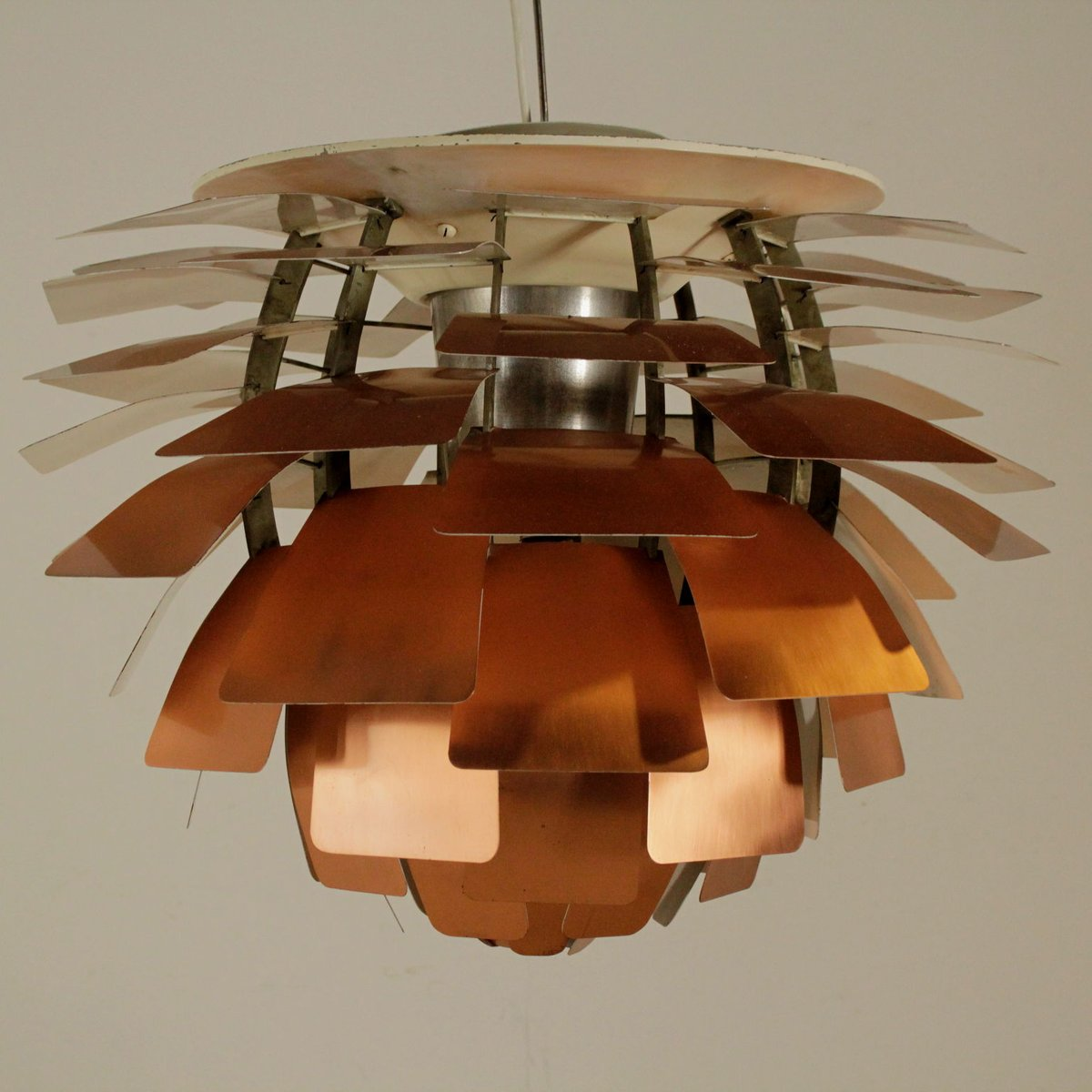 Artichoke copper ceiling lamp by poul henningsen for louis poulsen artichoke copper ceiling lamp by poul henningsen for louis poulsen 1960s for sale at pamono aloadofball