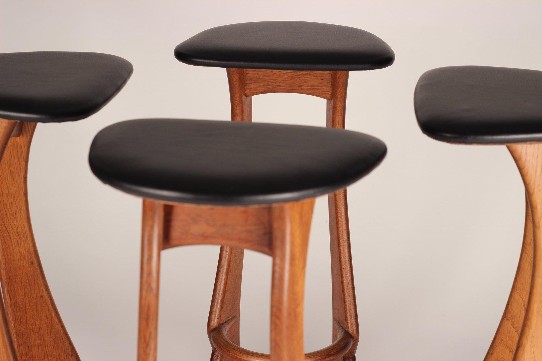 teak barhocker von reyway 1960er 4er set bei pamono kaufen. Black Bedroom Furniture Sets. Home Design Ideas