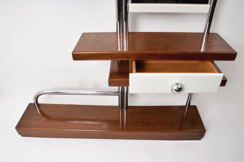 bauhaus garderobe mit spiegel und schublade bei pamono kaufen. Black Bedroom Furniture Sets. Home Design Ideas