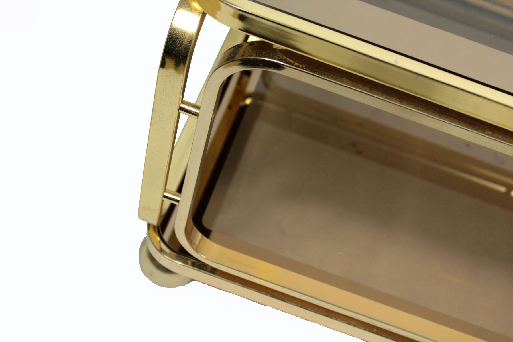 Vintage smoked glass ottone couchtisch von allegri for Design couchtisch hn 777