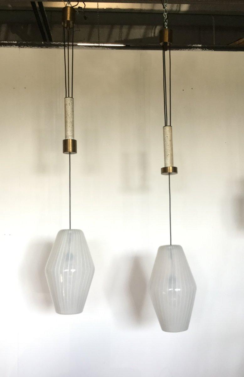 vintage lighting pendants. Vintage Adjustable Light Pendants By Paolo Venini, 1950s, Set Of 2 Lighting