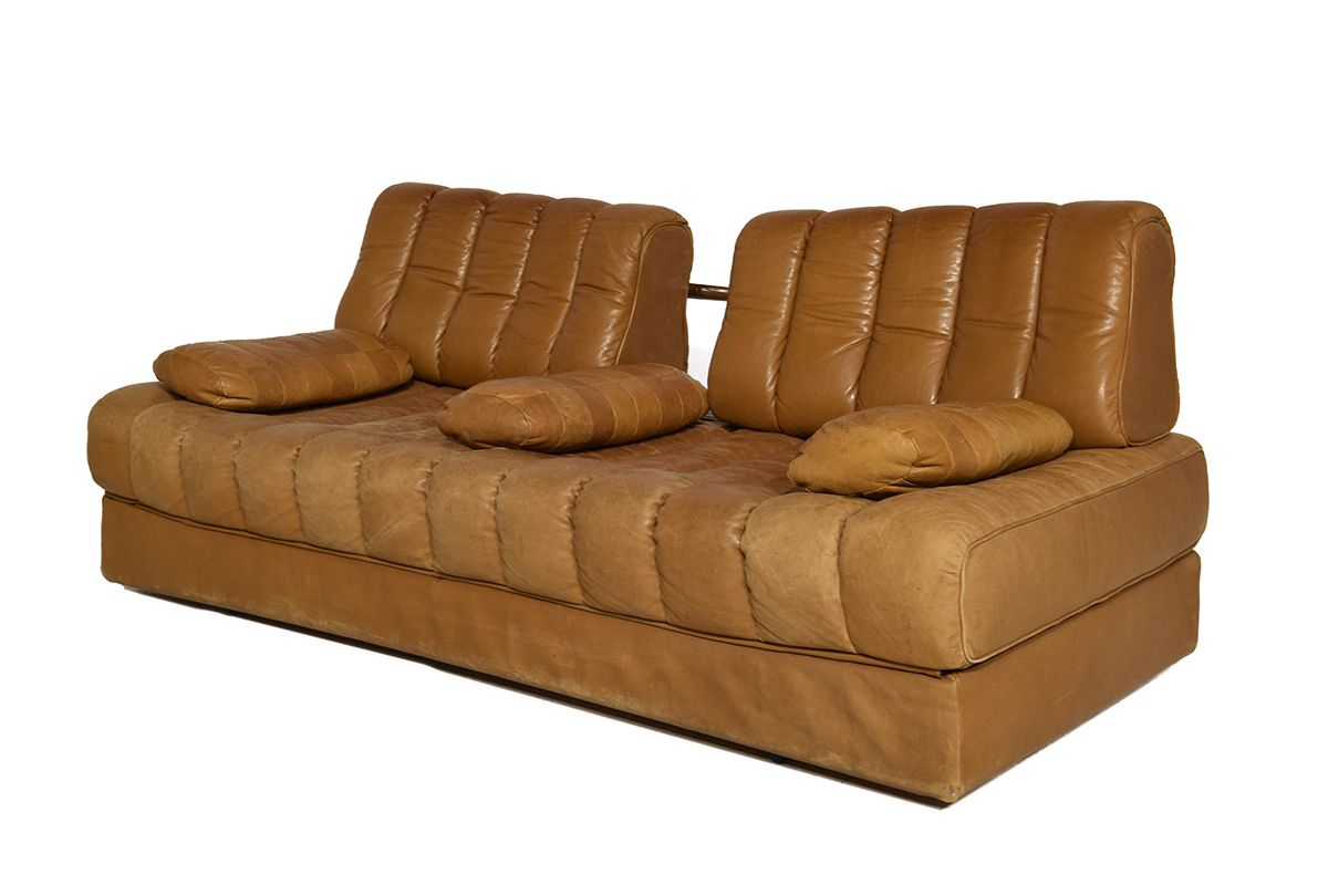 DS 85 Cognac Leather Sofa Bed From De Sede, 1971