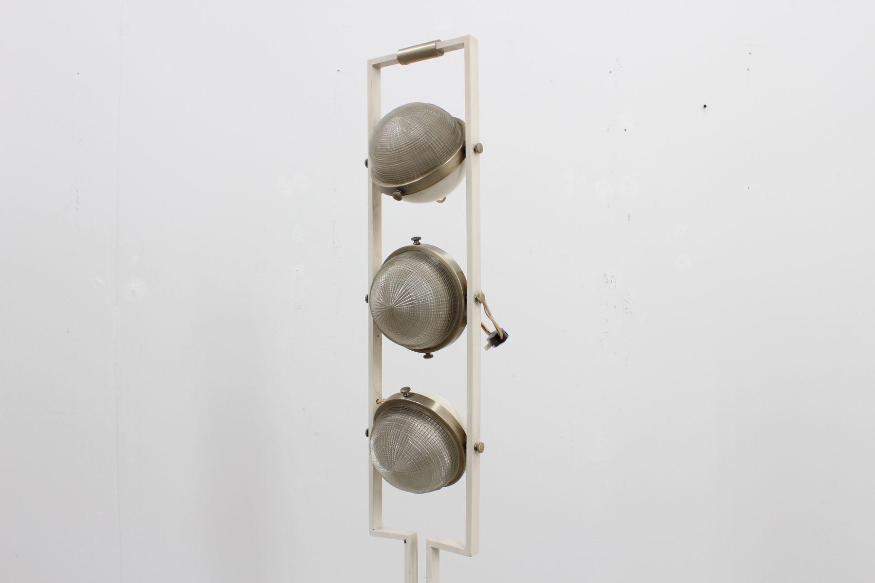 Italienische stehlampe mit drei leuchten von oma 1960er for Italienische leuchten