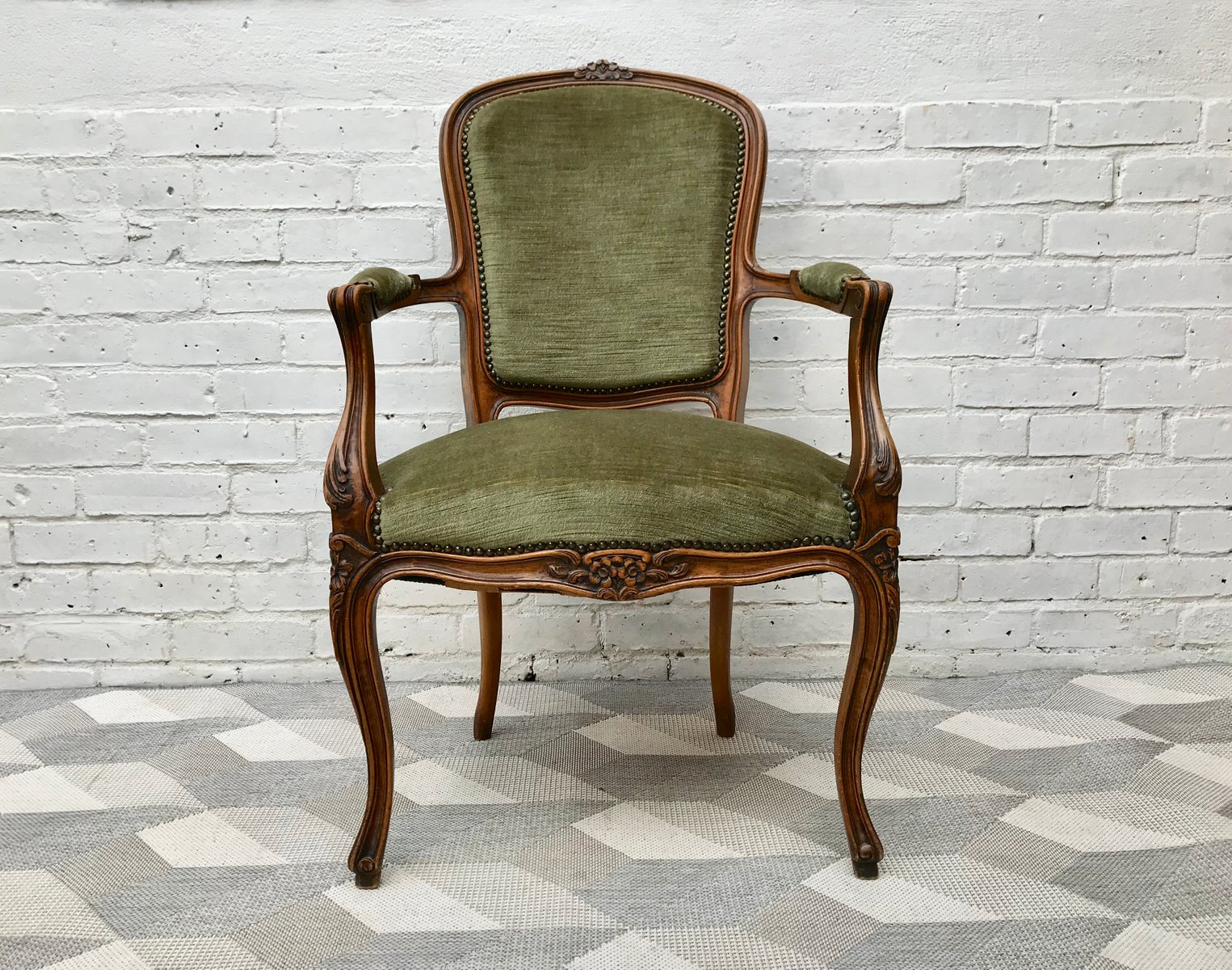 French Wooden Chairs ~ Vintage french louis xvi style wooden chair for sale at pamono