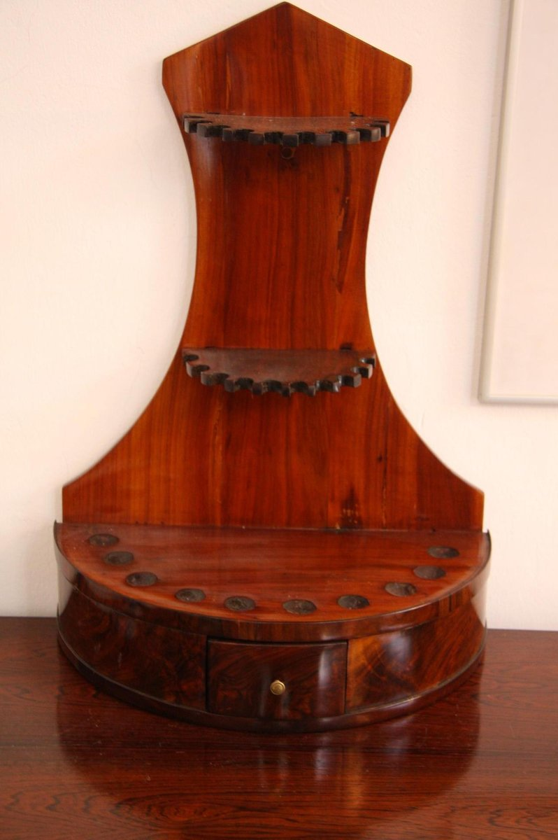 Antique Walnut & Cherry Pipe Stand - Antique Walnut & Cherry Pipe Stand For Sale At Pamono