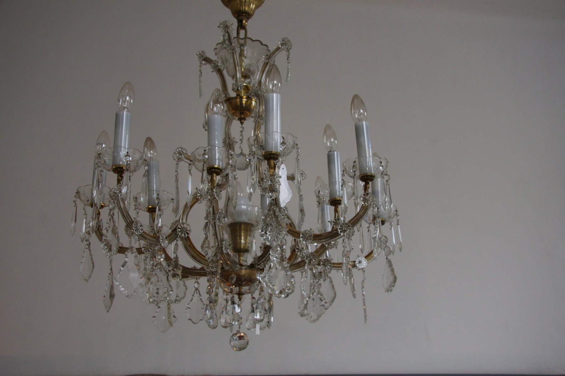 Antique crystal chandelier for sale at pamono antique crystal chandelier aloadofball Images