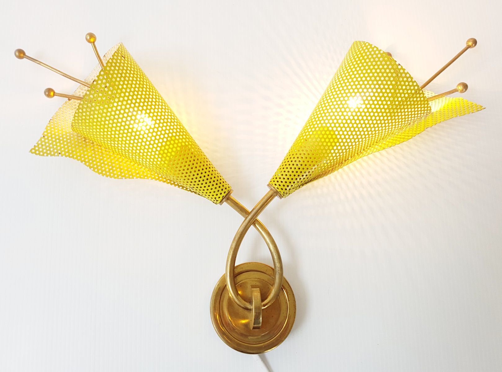 diabolo midcentury furniture listings gino double sconce mid and modern lighting lights sarfatti wall italian sconces shade century