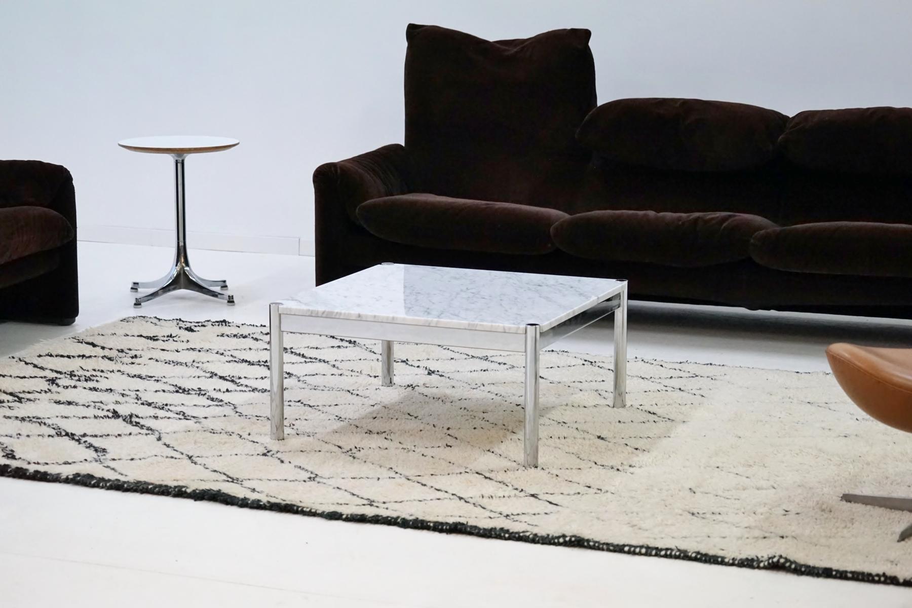 vintage couchtisch aus carrara marmor von usm haller bei. Black Bedroom Furniture Sets. Home Design Ideas