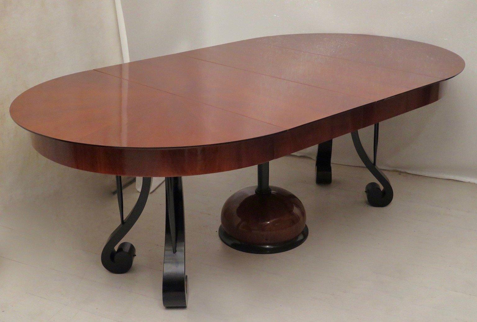 runder ausziehbarer biedermeier kirschholz esstisch 1820er bei pamono kaufen. Black Bedroom Furniture Sets. Home Design Ideas