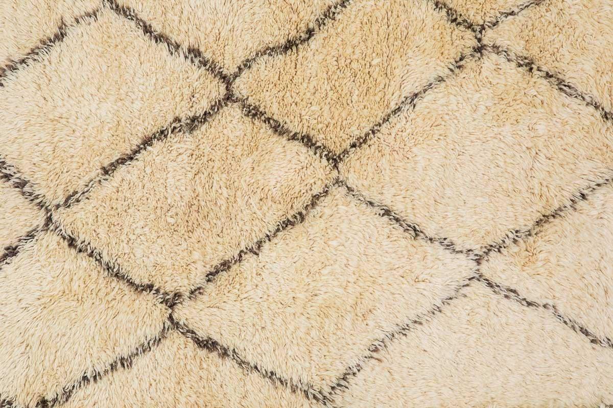 marokkanischer vintage berber teppich von beni ouarain 1970er bei pamono kaufen. Black Bedroom Furniture Sets. Home Design Ideas