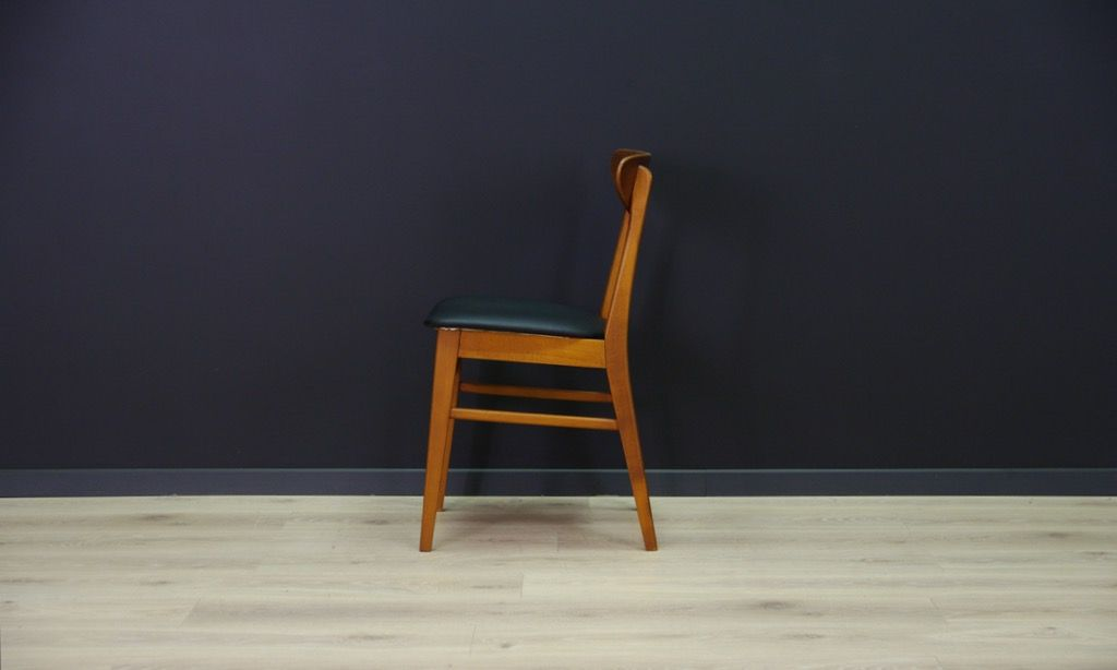 d nische vintage st hle mit furnier aus teakholz 2er set bei pamono kaufen. Black Bedroom Furniture Sets. Home Design Ideas