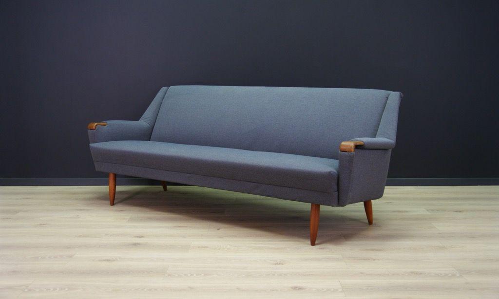 skandinavisches vintage sofa mit furnier aus teakholz bei pamono kaufen. Black Bedroom Furniture Sets. Home Design Ideas