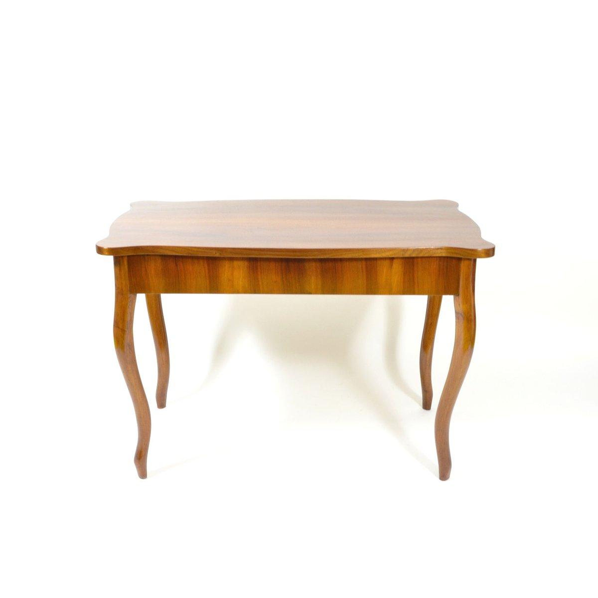 antiker schreibtisch mit schublade und furnier aus nussholz bei pamono kaufen. Black Bedroom Furniture Sets. Home Design Ideas